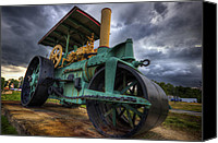 Ruin Canvas Prints - Steam Tractor Canvas Print by Eric Gendron