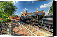 Carriage Canvas Prints - Steam Train Canvas Print by Adrian Evans