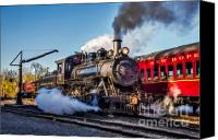 Locomotive Canvas Prints - Steam Train No. 40 Canvas Print by Susan Candelario