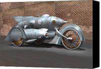 Cycle Canvas Prints - Steam Turbine Cycle Canvas Print by Stuart Swartz