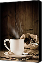 Espresso Canvas Prints - Steaming Coffee Canvas Print by Christopher Elwell and Amanda Haselock