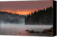 Dam Canvas Prints - Steaming lake Canvas Print by Evgeni Dinev