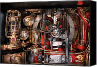 Machine Canvas Prints - Steampunk - Check the gauges  Canvas Print by Mike Savad