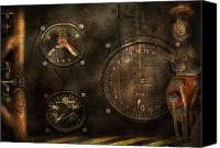 Cyber Canvas Prints - Steampunk - Check your pressure Canvas Print by Mike Savad