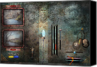 Cyber Canvas Prints - Steampunk - Control Panel Canvas Print by Mike Savad