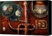 Cyberpunk Canvas Prints - Steampunk - Controls Canvas Print by Mike Savad