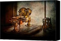 Cyber Canvas Prints - Steampunk - Gear Technology Canvas Print by Mike Savad