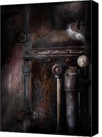 Cyber Canvas Prints - Steampunk - Handling Pressure  Canvas Print by Mike Savad