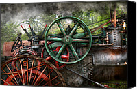 Tractor Wheel Canvas Prints - Steampunk - Machine - Transportation of the future Canvas Print by Mike Savad