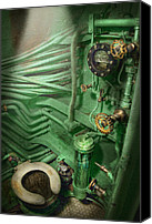 Complex Canvas Prints - Steampunk - Naval - Plumbing - The head Canvas Print by Mike Savad