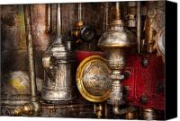 Cyber Canvas Prints - Steampunk - Needs oil Canvas Print by Mike Savad