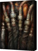 Cyber Canvas Prints - Steampunk - Pipes Canvas Print by Mike Savad