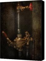 Cyber Canvas Prints - Steampunk - Plumbing - Number 4 - Universal  Canvas Print by Mike Savad