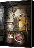 Machine Canvas Prints - Steampunk - Silent into the night Canvas Print by Mike Savad