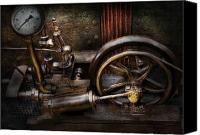 Cyber Canvas Prints - Steampunk - The Contraption Canvas Print by Mike Savad