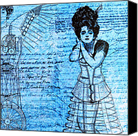 Nikki Marie Smith Canvas Prints - Steampunk Girls in Blues Canvas Print by Nikki Marie Smith