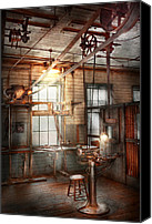 Belt Canvas Prints - Steampunk - Machinist - The grinding station Canvas Print by Mike Savad