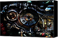 Chambers Canvas Prints - Steampunk Personal Decompression Chamber Model 39875DA78803 Fully Accessorized Canvas Print by Wingsdomain Art and Photography