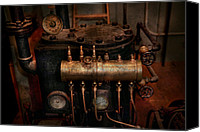 Machine Canvas Prints - Steampunk - Plumbing - The valve matrix Canvas Print by Mike Savad