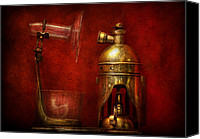 Glass Canvas Prints - Steampunk - The Torch Canvas Print by Mike Savad