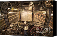 Time Travel Canvas Prints - Steampunk Time Machine Canvas Print by Keith Kapple
