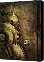 Clock Canvas Prints - Steampunk - Toothy  Canvas Print by Mike Savad