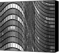Steel City Canvas Prints - Steel And Glass Curtain Wall Canvas Print by Photo by John Crouch
