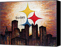 Steelers Canvas Prints - Steelers. Canvas Print by Mark M  Mellon