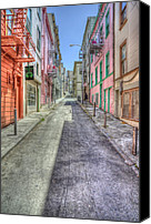 Alley Canvas Prints - Steep Street Canvas Print by Scott Norris