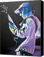 Dave Canvas Prints - Stefan Lessard Colorful Full Band Series Canvas Print by Joshua Morton