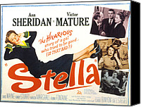 Stella Art Canvas Prints - Stella, Ann Sheridan, 1950 Canvas Print by Everett