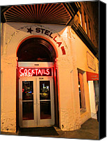 Stella Art Canvas Prints - Stella Cocktail Bar At Night Canvas Print by Kym Backland