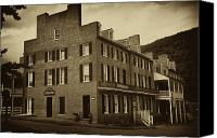 Harpers Ferry Canvas Prints - Stephensons Hotel - Harpers Ferry  West Virginia Canvas Print by Bill Cannon