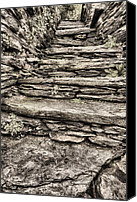 Harpers Ferry Canvas Prints - Stepping Through Time Black and White Canvas Print by JC Findley