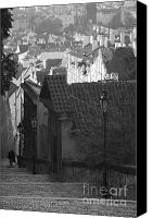 Prague Castle Canvas Prints - Steps down to the Little Quarter Canvas Print by Hideaki Sakurai