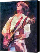 Fender Digital Art Canvas Prints - Steve Miller 1978 Canvas Print by Russ Harris