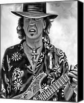 Stevie Ray Vaughan Canvas Prints - Stevie Ray Vaughan 1 Canvas Print by Peter Chilelli