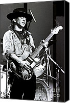 Stevie Ray Vaughan Canvas Prints - Stevie Ray Vaughan 1984 no2 Canvas Print by Chris Walter