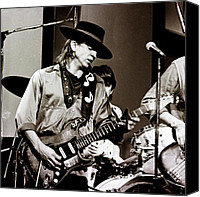 Stevie Ray Vaughan Canvas Prints - Stevie Ray Vaughan 3 1984 Canvas Print by Chris Walter