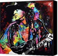Stevie Ray Vaughan Canvas Prints - Stevie Ray Vaughan Canvas Print by Dean Russo