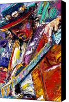 Stevie Ray Vaughan Canvas Prints - Stevie Ray Vaughan number one Canvas Print by Debra Hurd