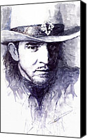 Stevie Ray Vaughan Canvas Prints - Stevie Ray Vaughan Canvas Print by Yuriy  Shevchuk