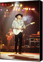 Rich Fuscia Canvas Prints - Stevie Ray Vaughn Canvas Print by Rich Fuscia