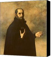 Half-length Painting Canvas Prints - St.Ignatius Loyola Canvas Print by Francisco de Zurbaran