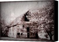 Barn Digital Art Canvas Prints - Still Here Canvas Print by Julie Hamilton