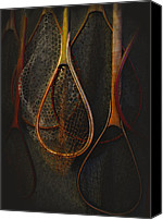 Trout Digital Art Canvas Prints - Still life - fishing nets Canvas Print by Jeff Burgess