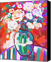Still Life Pastels Canvas Prints - Still Life 56 Canvas Print by Penny Owens