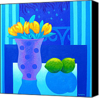 Limes Canvas Prints - Still Life At Window III Canvas Print by John  Nolan