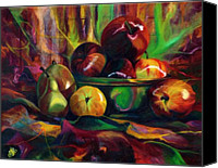 Kd Neeley Canvas Prints - Still Life I Fruit Bowl Canvas Print by Kd Neeley