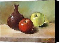 Bud Painting Canvas Prints - Still Life I Canvas Print by Han Choi - Printscapes